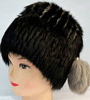 Шапка-кубанка женская из натурального меха кролика