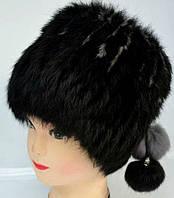 Шапка меховая женская черного окраса