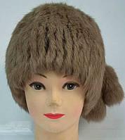 Жіноча шапка з натурального хутра кролика