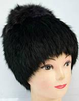 Женская шапка-кубанка из натурального меха кролика