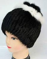 Стильная женская зимняя шапка из меха кролика