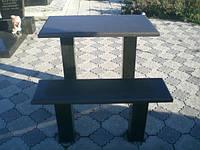 Скамейка и стол на кладбище № 475