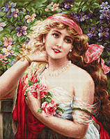 "Набор для вишивания гобелена ""Luca-S"" G549Девушка с розами"