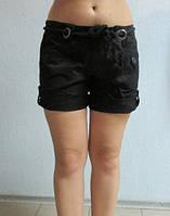 Женские шорты ZARA (0559) черные код 010 Б