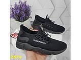 Кросівки текстильні дуже легкі чорні дихаючі К2574, фото 4