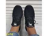 Кросівки текстильні дуже легкі чорні дихаючі К2574, фото 3