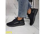 Кросівки текстильні дуже легкі чорні дихаючі К2574, фото 8