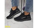 Кросівки текстильні дуже легкі чорні дихаючі К2574, фото 7