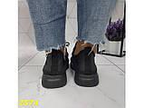 Кросівки текстильні дуже легкі чорні дихаючі К2574, фото 6