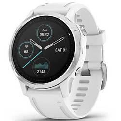 Смарт часы Garmin Fenix 6S Silver with White Band (010-02159-00)