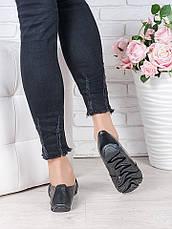 Туфлі мокасини чорна шкіра 7023-28, фото 3