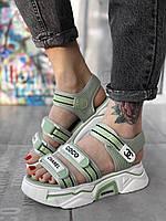 Босоніжки жіночі CH*NEL босоніжки спорт тканинні літнє взуття, жіноча репліка копія, фото 1
