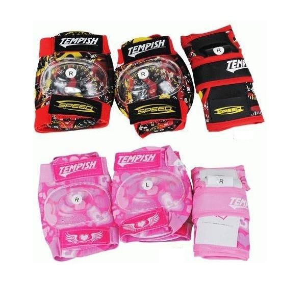 Комплект детской защиты Tempish Meex (наколенники, налокотники, напульсники), розовый (AS)