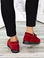 Туфлі червоні замшеві 7258-28, фото 3