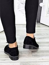 Туфлі чорні замшеві 7271-28, фото 3