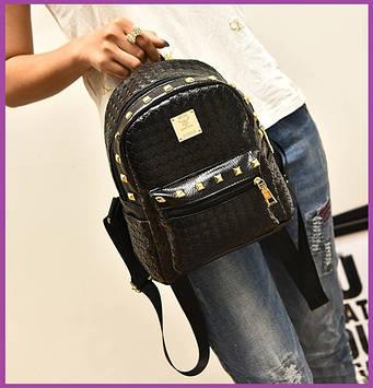 Міні-рюкзак жіночий стильний, Рюкзак міський красивий, Рюкзачок ультрамодний жіночий Стильний жіночий рюкзак