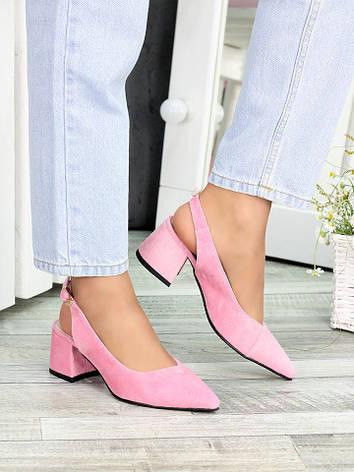 Туфлі рожева замша Molly 7410-28, фото 2