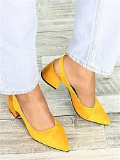 Туфлі гірчиця замша Molly 7411-28, фото 2