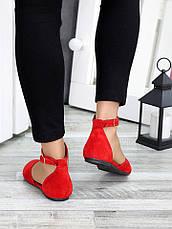 Туфлі Аліса червона замша 7421-28, фото 2