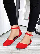 Туфлі Аліса червона замша 7421-28, фото 3
