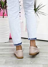 Туфлі мокасини беж шкіряні 7623-28, фото 3