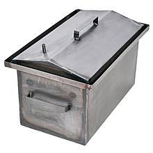 Коптильня гарячого копчення 1мм 520х310х260мм з Гідрозатворів (каганець,каптилка)