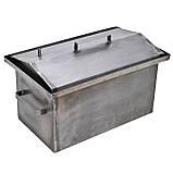 Коптильня гарячого копчення 1мм 520х310х260мм з Гідрозатворів (каганець,каптилка), фото 2