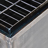 Коптильня гарячого копчення 1мм 520х310х260мм з Гідрозатворів (каганець,каптилка), фото 5