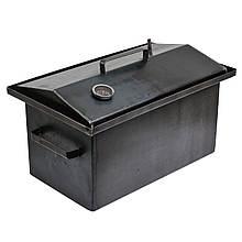 Коптильня гарячого копчення 2мм 520х320х300мм з термометром (каганець,каптилка)