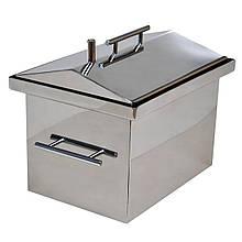 Коптильня гарячого копчення 1,5 мм 380х250х280мм Нержавійка (домашня каганець для риби і м'яса, каптилка)