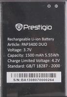 Аккумулятор для Prestigio MultiPhone 3400 DUO оригинальный, батарея PAP3400 DUO