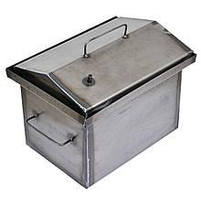 Коптильня гарячого копчення 1.5 мм 400х300х350мм з Гідрозатворів (каганець,каптилка)