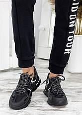 Кросівки хакі чорний шкіра 7666-28, фото 2