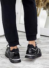 Кросівки хакі чорний шкіра 7666-28, фото 3
