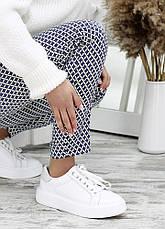 Шкіряні білі кеди 7680-28, фото 2