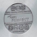 Кастрюля скороварка Home Perfect Hascevher 14л нержавеющая сталь с индукцией (пароварка Хоум Перфект, Tefal), фото 3