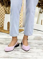 Туфлі босоніжки фіалка замша Rose 7708-28, фото 3
