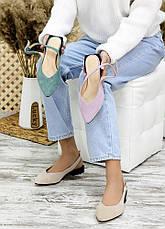 Туфлі босоніжки фіалка замша Rose 7708-28, фото 2