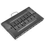 Мангал - чемодан 2 мм на 8 шампуров 475х350х160мм + Чехол + Набор шампуров, фото 4