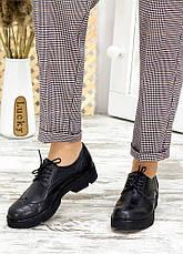 Туфлі оксфорди чорна шкіра 7715-28, фото 2
