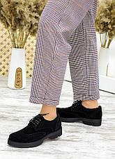 Туфлі оксфорди чорна замша 7716-28, фото 2