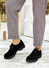 Туфлі оксфорди чорна замша 7716-28, фото 3