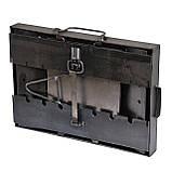 Мангал - валіза 3 мм на 7 шампурів зі столиками 550х300х150мм + Чохол + Набір шампурів + Стартер, фото 6