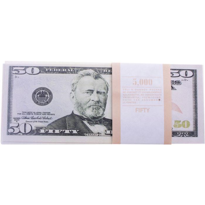 Сувенірні 50 доларів. Пачка доларів 80 шт.