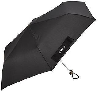 Качественный складной зонт, механический Wenger W1006-black (черный)