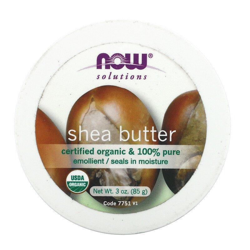 Органическое смягчающее масло Ши Now Foods Solutions Shea Butter 85 г