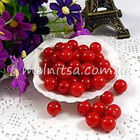 Бусины красные, 1,2 см (10 шт)
