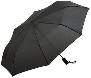 Солидный складной зонт, полный автомат Wenger W1101-black (черный)