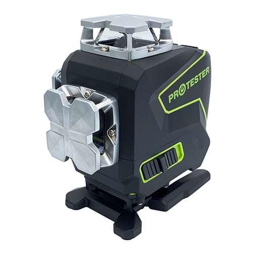 Профессиональный лазерный уровень PREMIUM, 4x360°(LCD, Bluetooth, ДУ, зеленый луч) PROTESTER LL516G