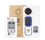 Цифровой люксметр + термометр 200000 Lux WINTACT WT81, фото 4